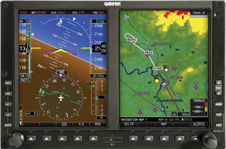 Example of latest Garmin GPS Avionics Technology at Maxcraft