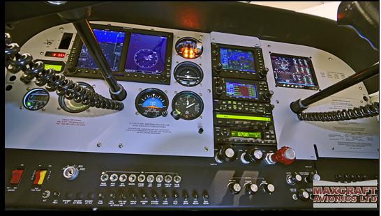 Glass Flight Instrument Panel
